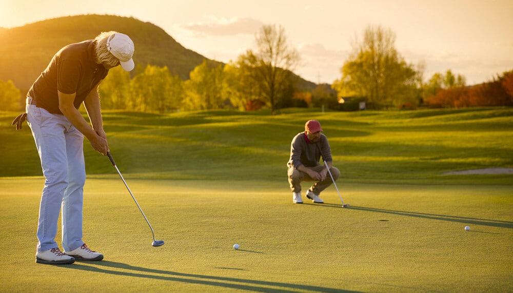 Two Mesa, AZ residents playing golf