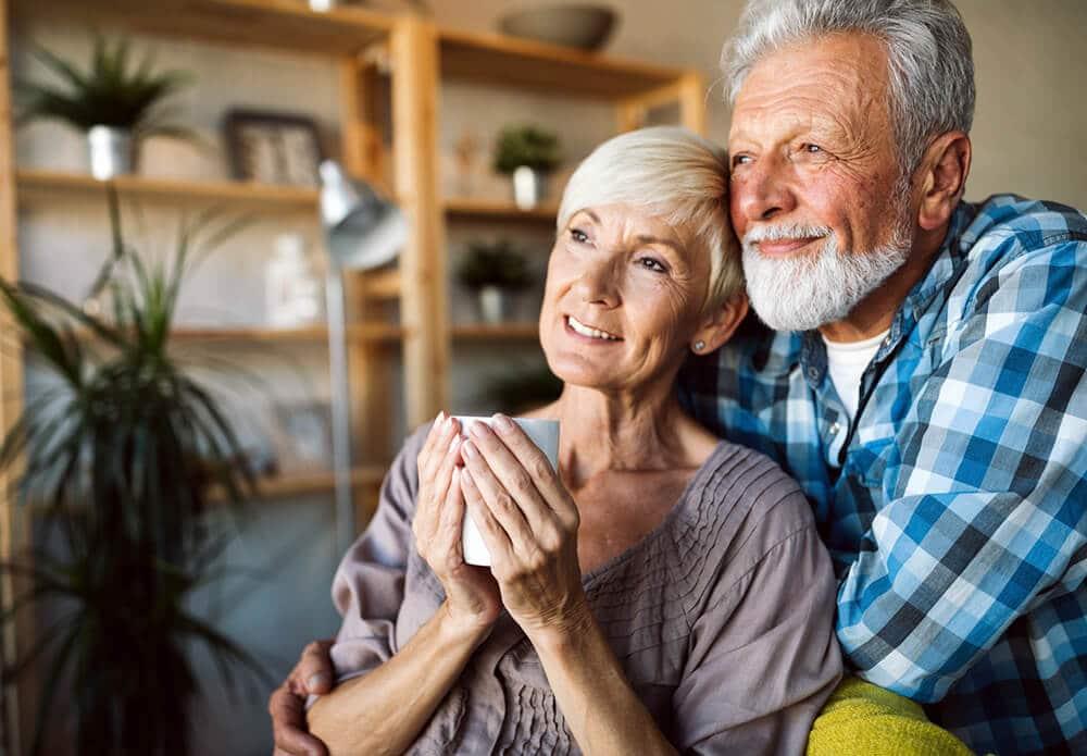 Seniors enjoying their 55+ community